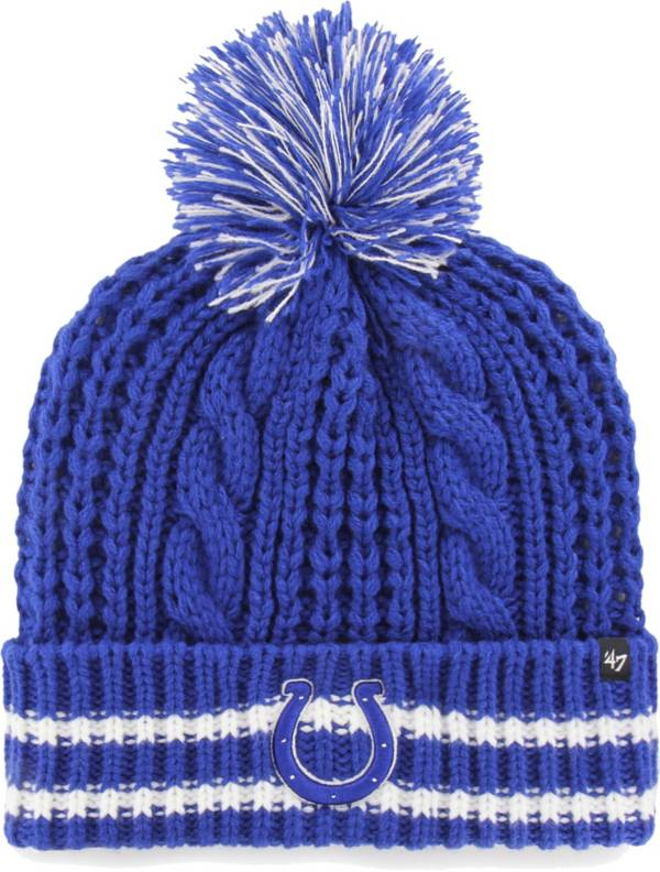 47 Women's Indianapolis Colts Static Cuffed Royal Knit Hat product image