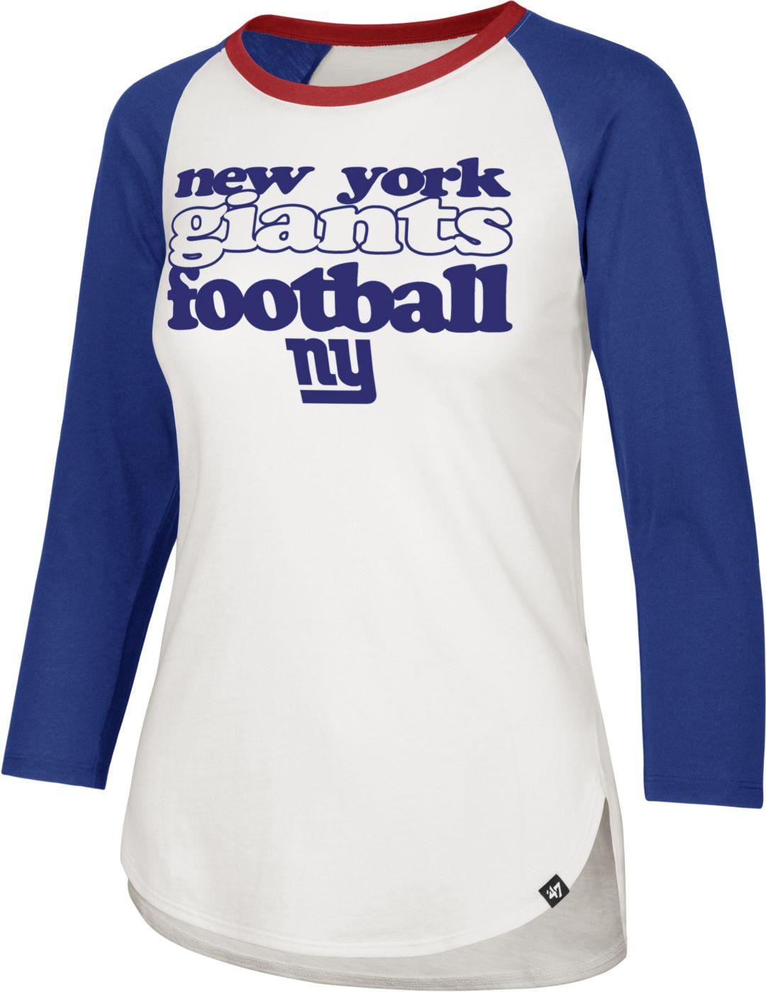 7b7f691b '47 Women's New York Giants Retro Stock Throwback Raglan Shirt