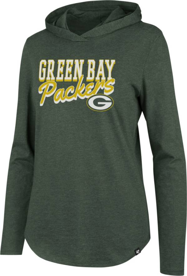 '47 Women's Green Bay Packers Club Green Hooded Long Sleeve Shirt product image