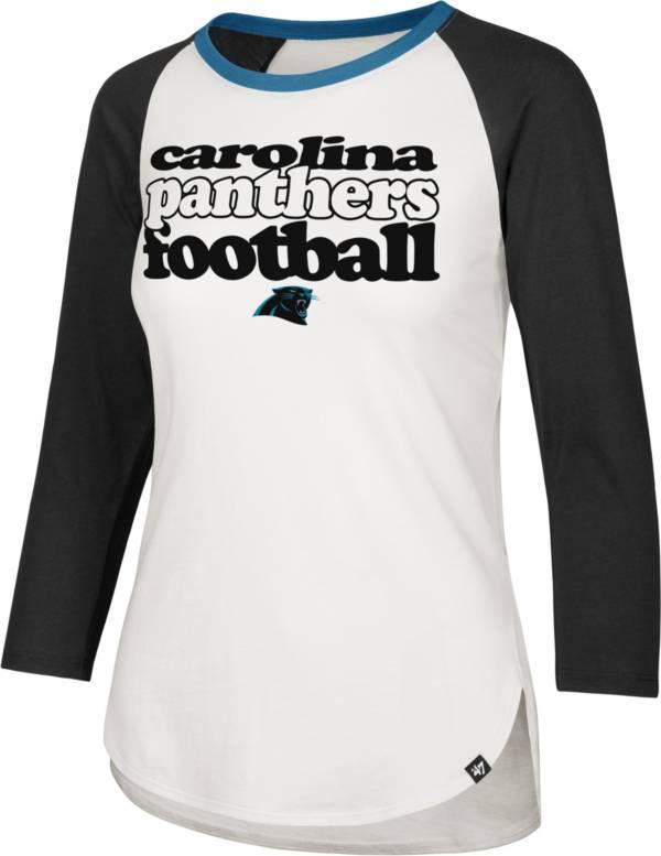 '47 Women's Carolina Panthers Retro Stock Throwback Raglan Shirt product image