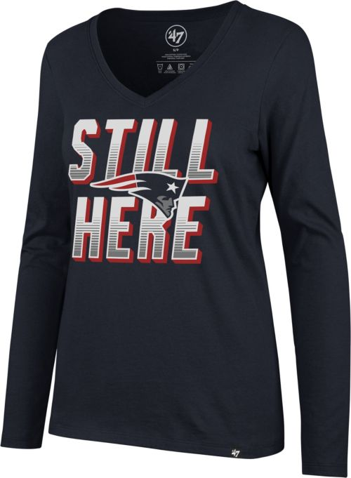 47 Women s New England Patriots Still Here Navy Long Sleeve Shirt.  noImageFound. Previous 5c1900dc2