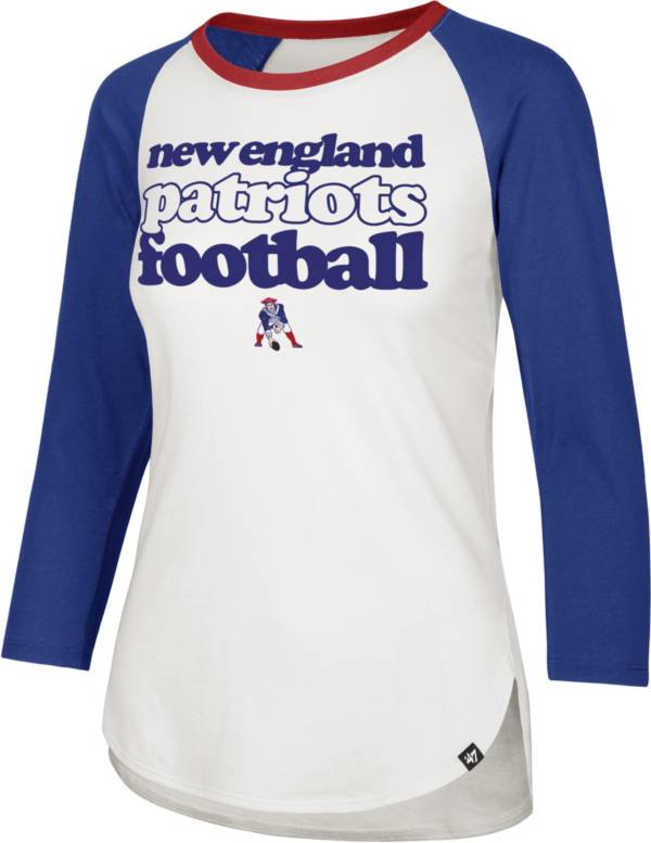 '47 Women's New England Patriots Retro Stock Throwback Raglan Shirt product image