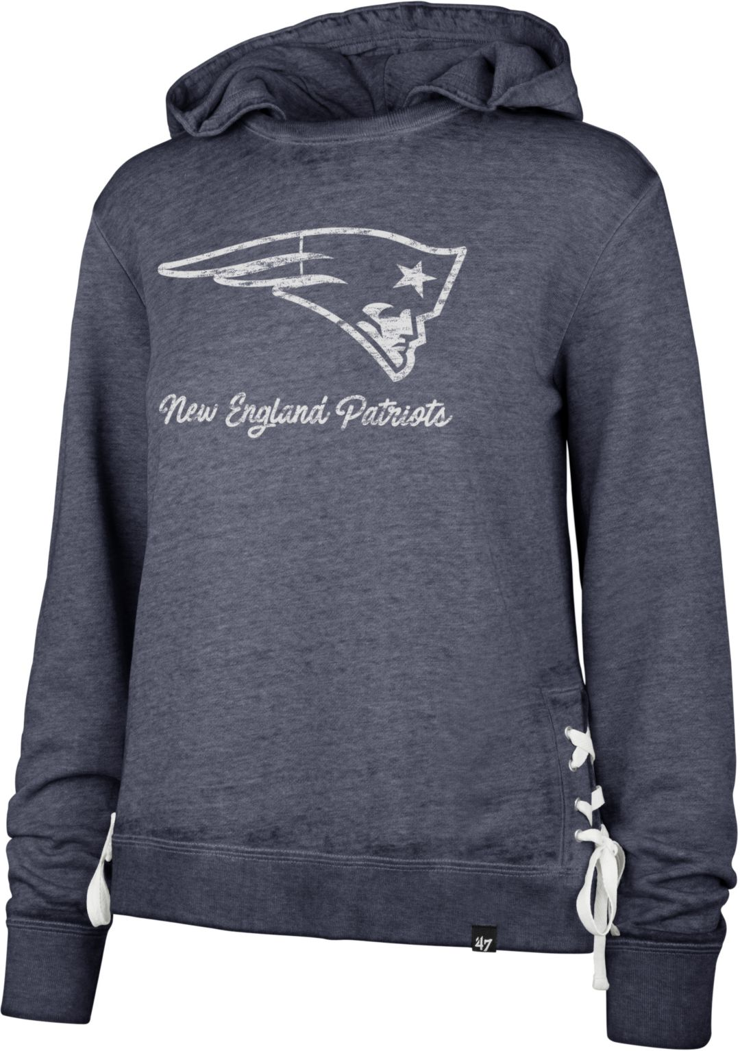 8c29c1b0 '47 Women's New England Patriots Side Lace Navy Hoodie