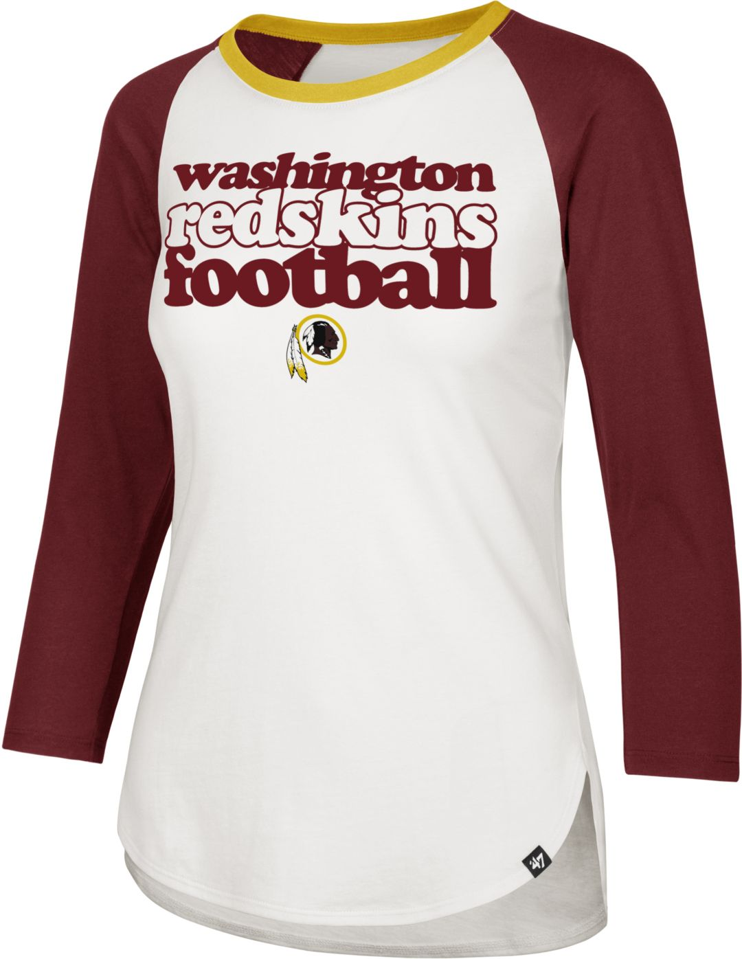 finest selection caf40 fd181 '47 Women's Washington Redskins Retro Stock Throwback Raglan Shirt