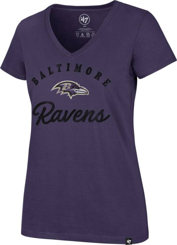 '47 Women's Baltimore Ravens Script Rivalry V-Neck Purple T-Shirt product image