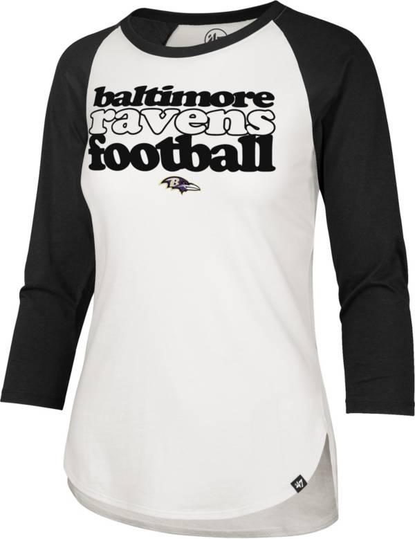 '47 Women's Baltimore Ravens Retro Stock Throwback Raglan Shirt product image