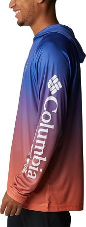 Columbia Men's Florida Gators Blue PFG Super Terminal Tackle Long Sleeve Hooded T-Shirt product image