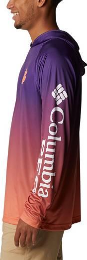 Columbia Men's Clemson Tigers Regalia PFG Super Terminal Tackle Long Sleeve Hooded T-Shirt product image