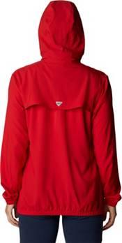 Columbia Women's Georgia Bulldogs Red PFG Tamiami Quarter-Snap Long Sleeve Hooded Shirt product image