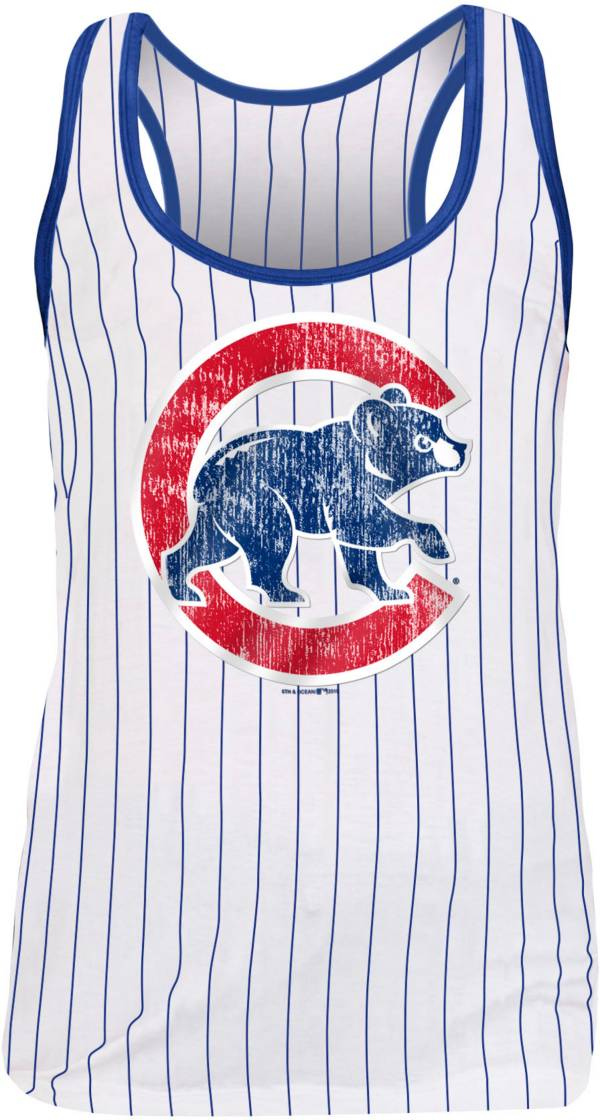 New Era Women's Chicago Cubs Pinstripe Tri-Blend Tank Top product image