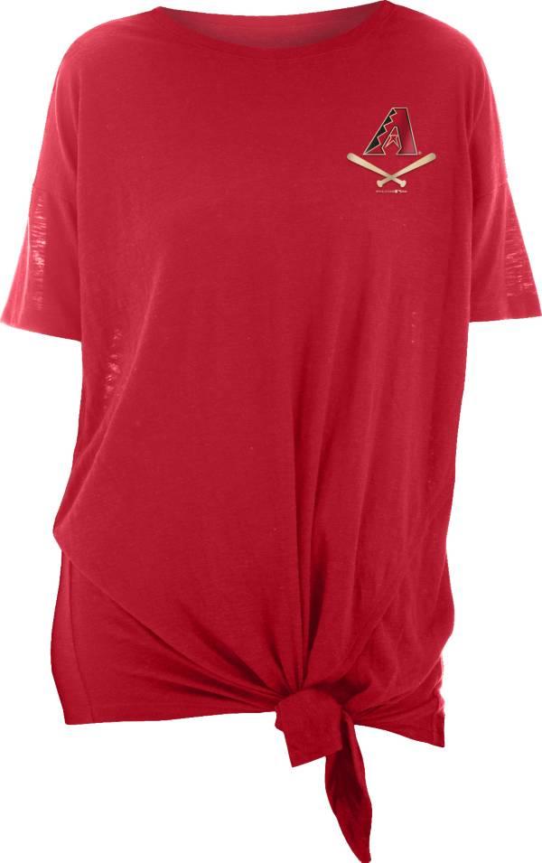 New Era Women's Arizona Diamondbacks Red Slub Side Tie T-Shirt product image