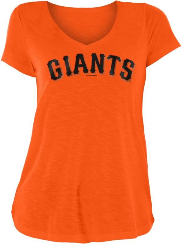 New Era Women's San Francisco Giants Orange Slub V-Neck T-Shirt product image