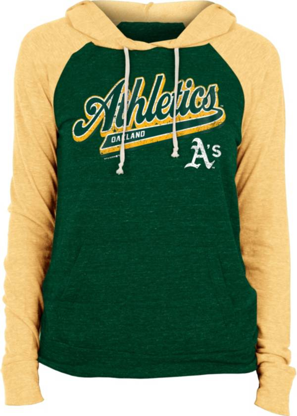 New Era Women's Oakland Athletics Green Tri-Blend Pullover Hoodie product image