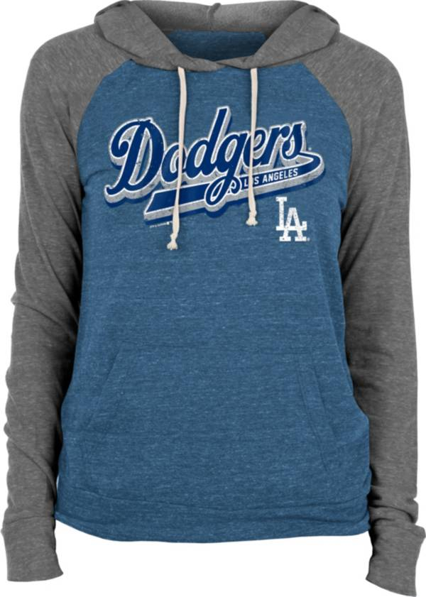New Era Women's Los Angeles Dodgers Blue Tri-Blend Pullover Hoodie product image