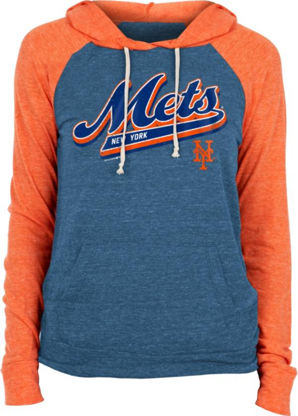 New Era Women's New York Mets Blue Tri-Blend Pullover Hoodie product image