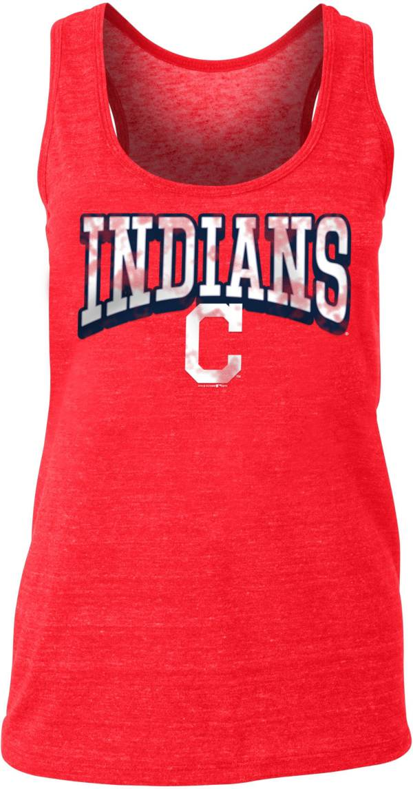 New Era Women's Cleveland Indians Tri-Blend Tank Top product image