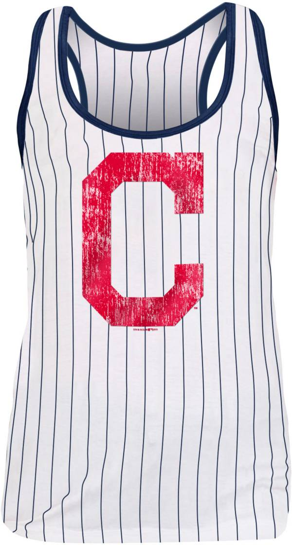 New Era Women's Cleveland Indians Pinstripe Tri-Blend Tank Top product image