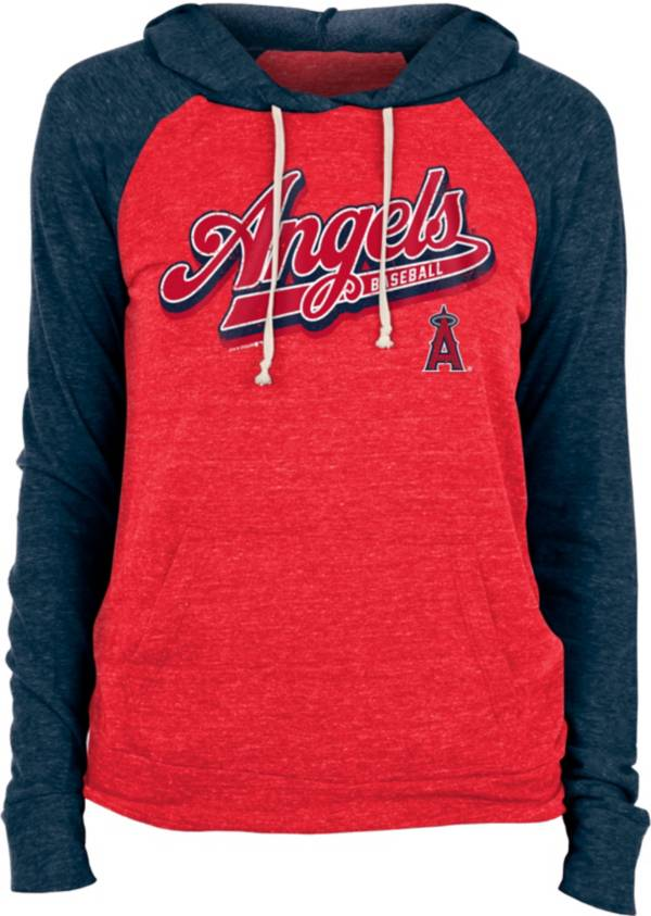 New Era Women's Los Angeles Angels Red Tri-Blend Pullover Hoodie product image