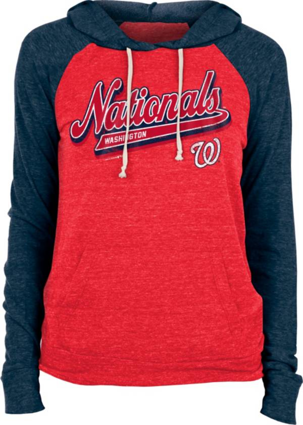New Era Women's Washington Nationals Red Tri-Blend Pullover Hoodie product image