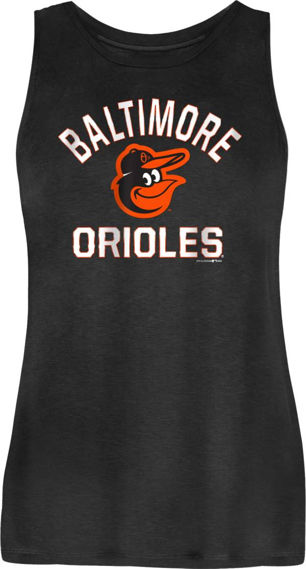 New Era Women's Baltimore Orioles Black Rayon Spandex Tank Top product image