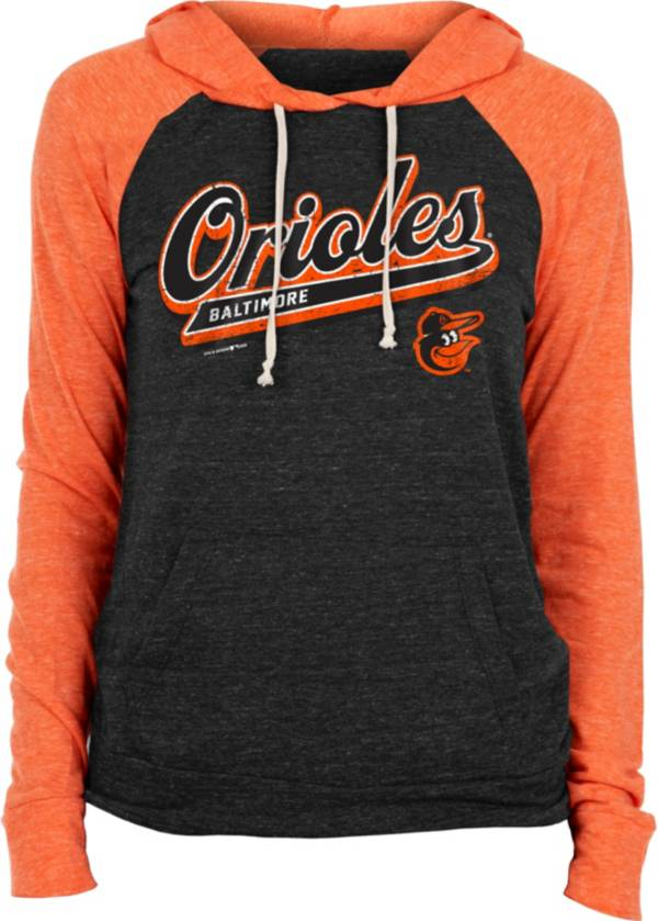 New Era Women's Baltimore Orioles Black Tri-Blend Pullover Hoodie product image