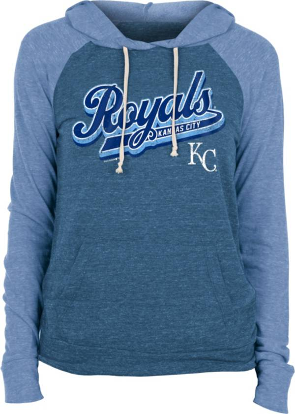 New Era Women's Kansas City Royals Blue Tri-Blend Pullover Hoodie product image