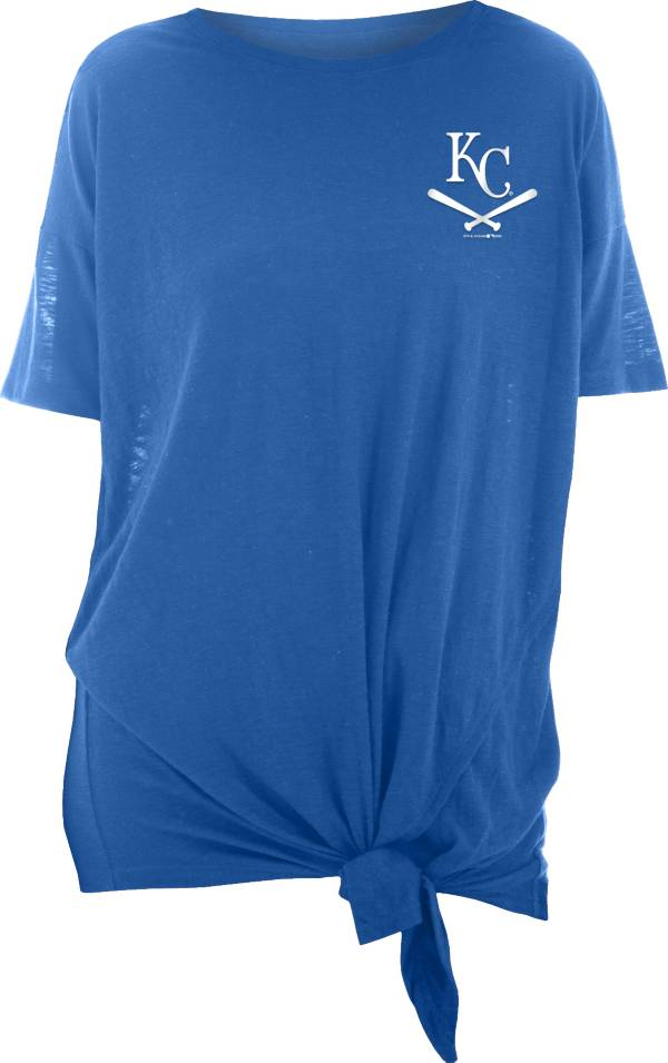 New Era Women's Kansas City Royals Blue Slub Side Tie T-Shirt product image