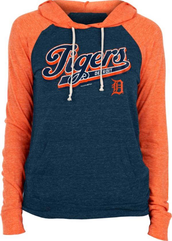 New Era Women's Detroit Tigers Navy Tri-Blend Pullover Hoodie product image
