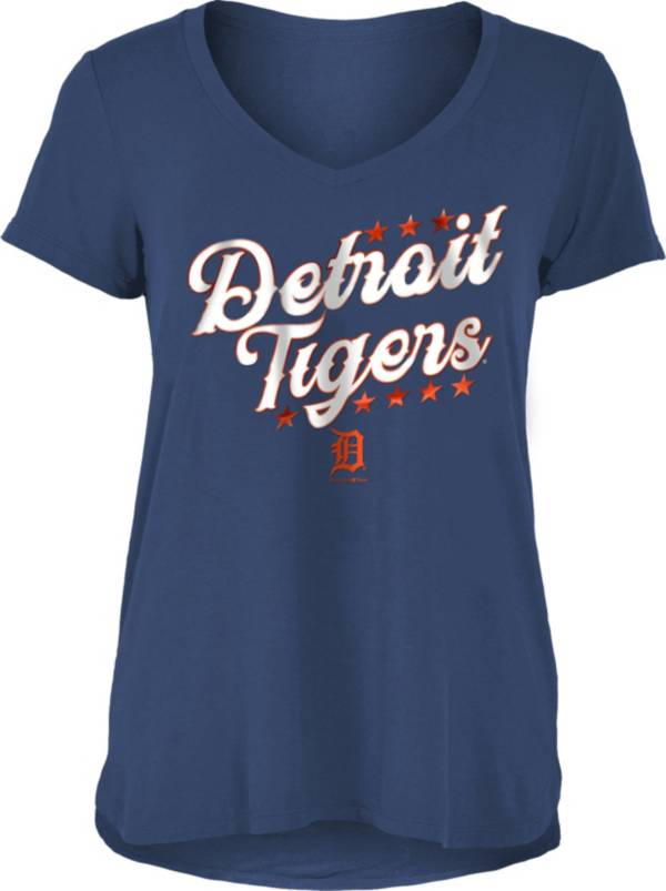 New Era Women's Detroit Tigers Navy Rayon Spandex V-Neck T-Shirt product image