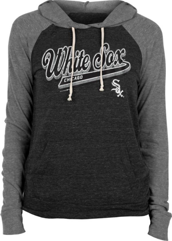New Era Women's Chicago White Sox Black Tri-Blend Pullover Hoodie product image