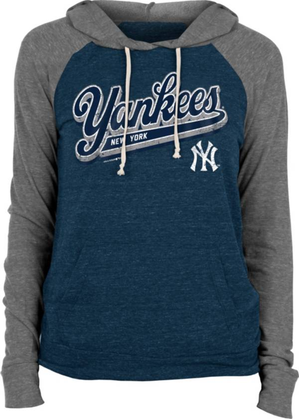 New Era Women's New York Yankees Navy Tri-Blend Pullover Hoodie product image