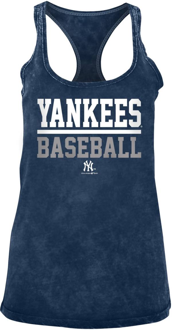 New Era Women's New York Yankees Navy Mineral Wash Tank Top product image