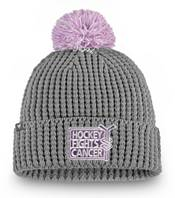 NHL Women's Nashville Predators Hockey Fights Cancer Pom Knit Beanie product image
