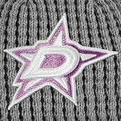 NHL Women's Dallas Stars Hockey Fights Cancer Pom Knit Beanie product image