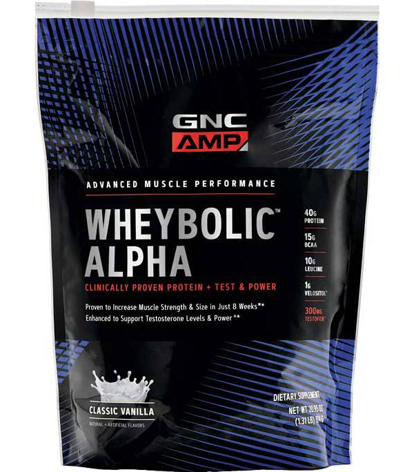 GNC Amp Wheybolic Alpha Protein Classic Vanilla 9 Servings product image