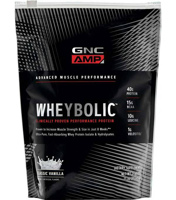 GNC Amp Wheybolic Protein Classic Vanilla 10 Servings product image