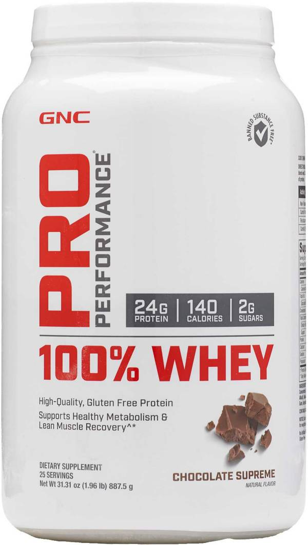 GNC Pro Performance 100% Whey Protein Chocolate Supreme 25 Servings product image