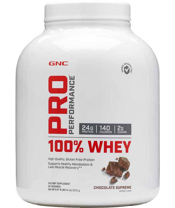 GNC Pro Performance 100% Whey Protein Chocolate Supreme 64 Servings product image