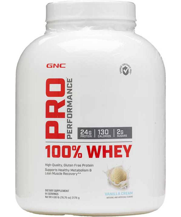 GNC Pro Performance 100% Whey Protein Vanilla Cream 64 Servings product image