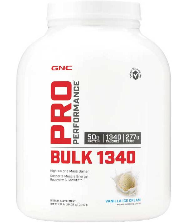 GNC Pro Performance Bulk 1340 Vanilla Ice Cream 7lbs product image