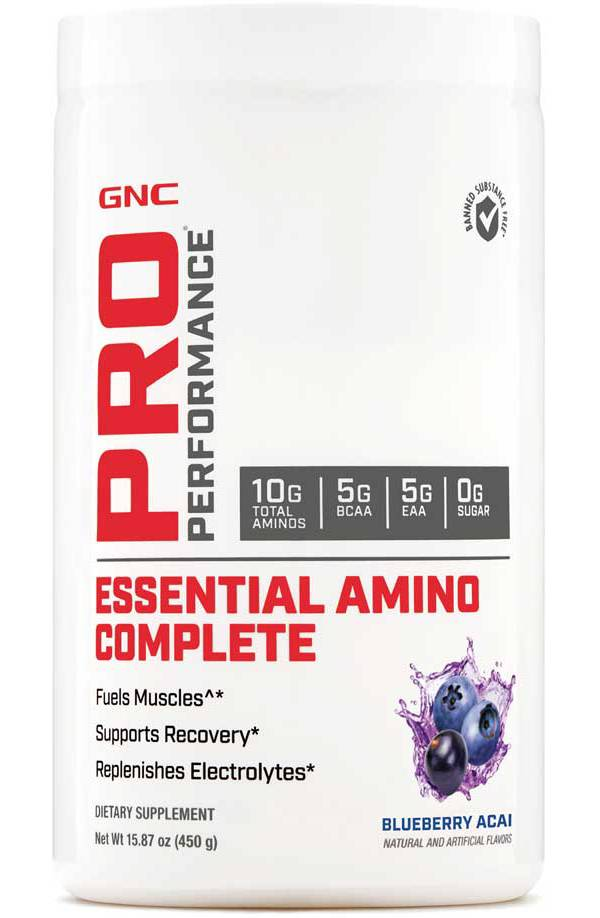 GNC Pro Performance Essential Amino Complete Blueberry Acai 30 Servings product image