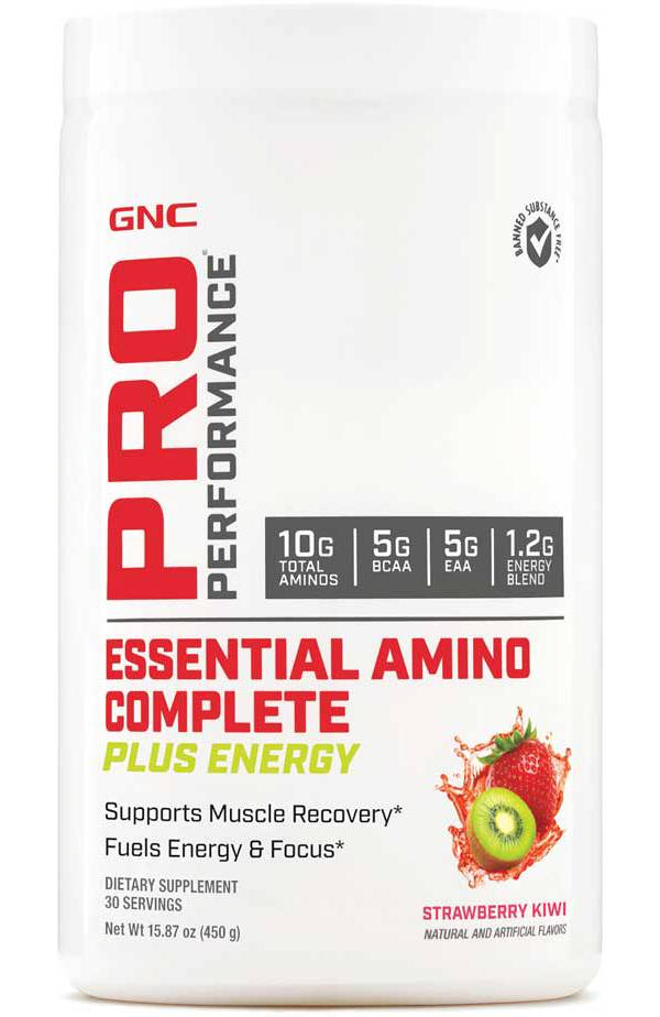 GNC Pro Performance Essential Amino Complete Plus Energy Strawberry Kiwi 30 Servings product image