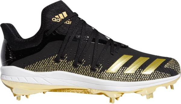 adidas Men's adizero Afterburner 6 GOLD Metal Baseball Cleats product image
