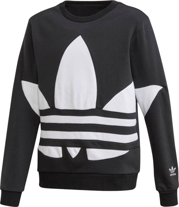 adidas Originals Boys' Big Trefoil Crew Sweatshirt product image