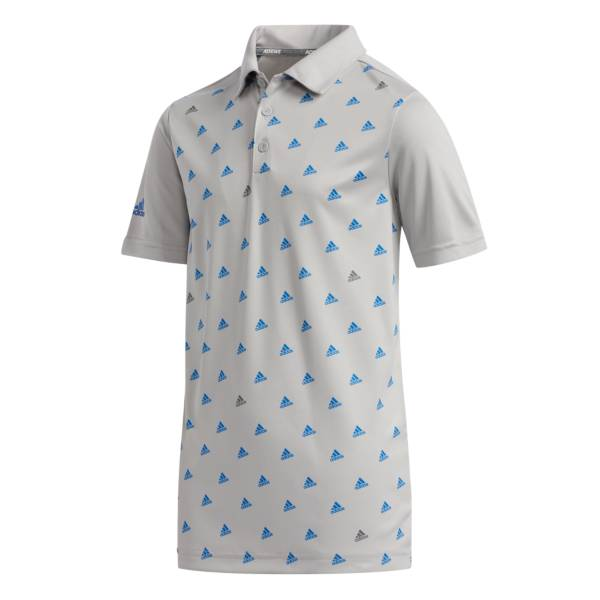 adidas Boys' Short Sleeve Printed Golf Polo product image