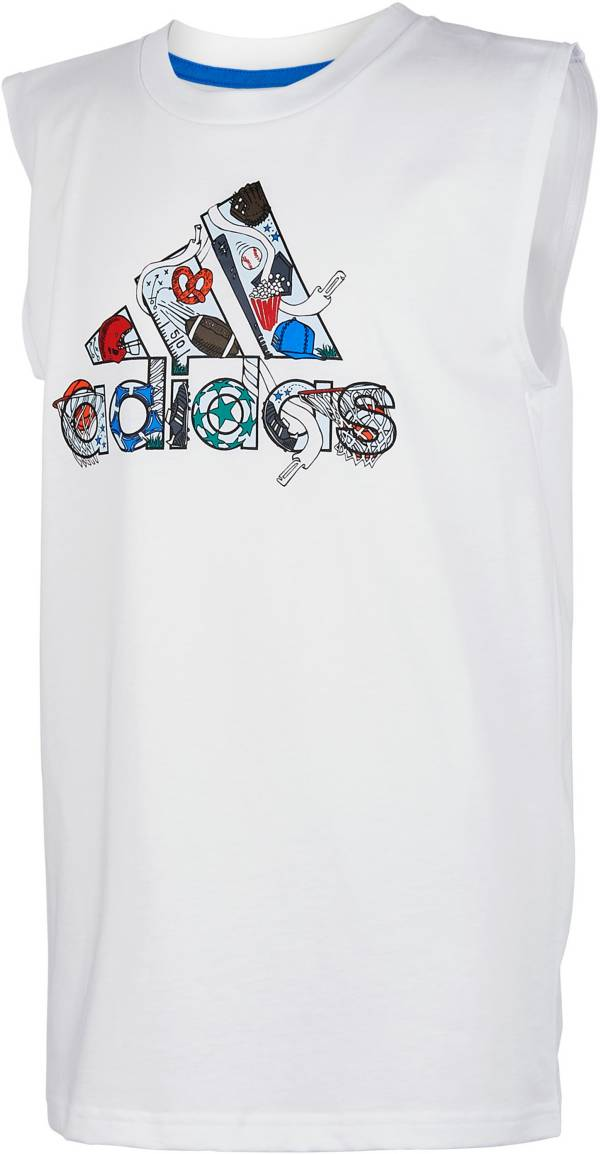 adidas Boys' Print Icon Badge of Sport Logo Graphic Tank Top product image