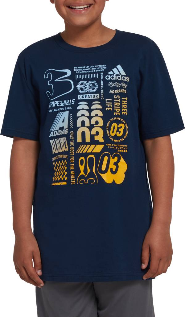 adidas Boys' Cotton Graphic T-Shirt product image