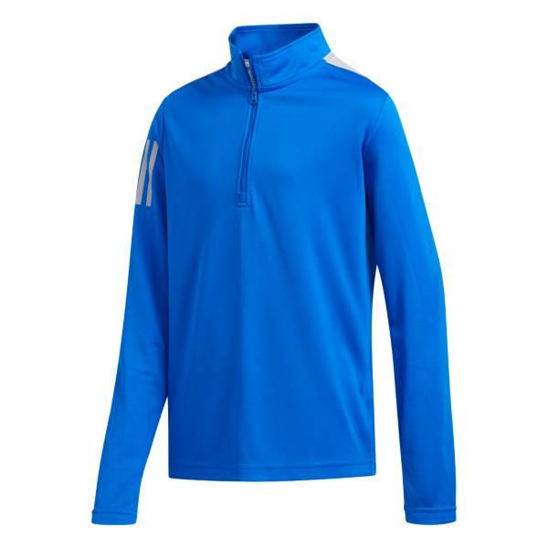 adidas Boys' Three-Stripe Half Zip Golf Pullover product image