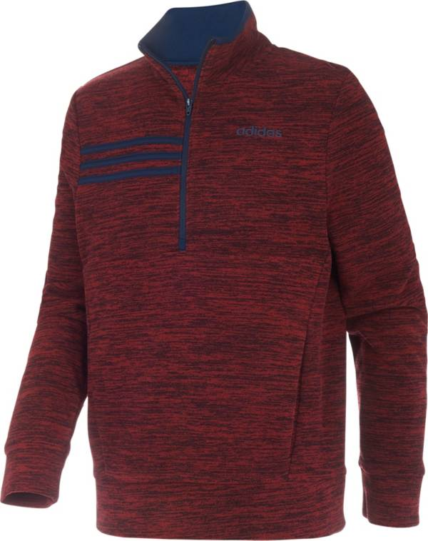 adidas Boys' Microfleece 1/2 Zip Long Sleeve Shirt product image