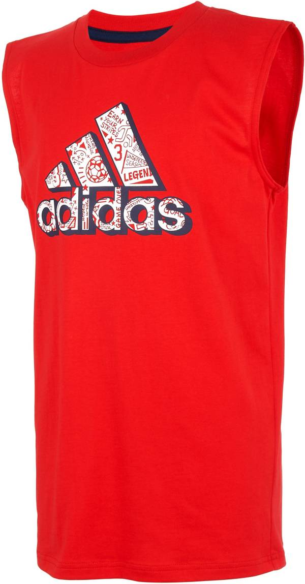 adidas Boys' Sport Print Badge of Sport Logo Graphic Tank Top product image